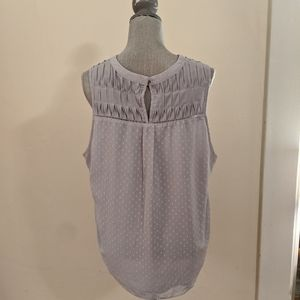 Brixon Ivy Tops - Gray Swiss dot blouse (XL)